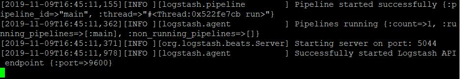 logstash启动成功页面